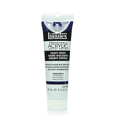 Liquitex Heavy Body Professional Artist Acrylic Colors phthalo blue (red shade) 2 oz.