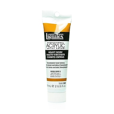 Liquitex Heavy Body Professional Artist Acrylic Colors transparent raw sienna 2 oz.