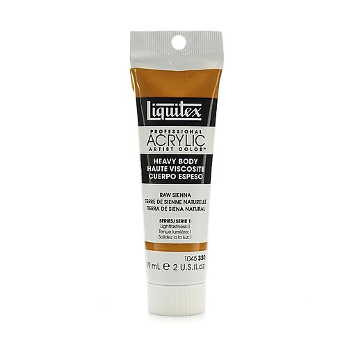 Liquitex Heavy Body Professional Artist Acrylic Colors raw sienna 2 oz. [Pack of 3]