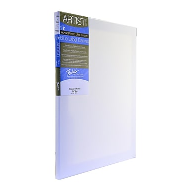 Fredrix Blue Label Ultra-Smooth Portrait Grade Pre-Stretched Artist Canvas, 20