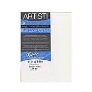 "Fredrix Blue Label Ultra-Smooth Portrait Grade Pre-Stretched Artist Canvas, 11""X14"", 2Pk (73243-Pk2)"