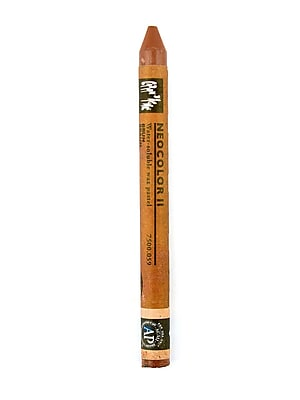 Caran d'Ache Neocolor II Aquarelle Water Soluble Wax Pastels brown [Pack of 10]