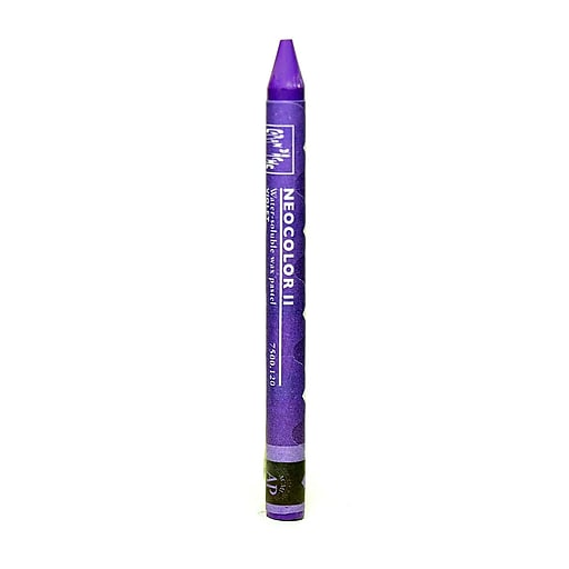 Caran d'Ache Neocolor II Aquarelle Water Soluble Wax Pastels violet [Pack of 10]
