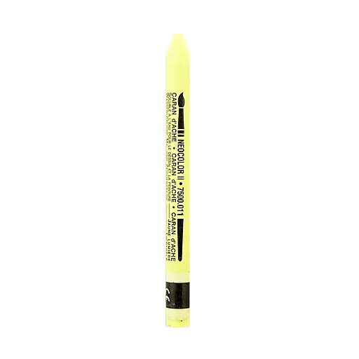 Caran d'Ache Neocolor II Aquarelle Water Soluble Wax Pastels pale yellow [Pack of 10]