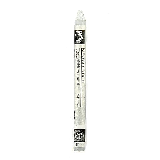 Caran d'Ache Neocolor II Aquarelle Water Soluble Wax Pastels silver [Pack of 10]