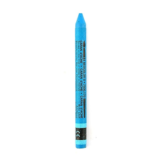 Caran d'Ache Neocolor II Aquarelle Water Soluble Wax Pastels azurite blue [Pack of 10]