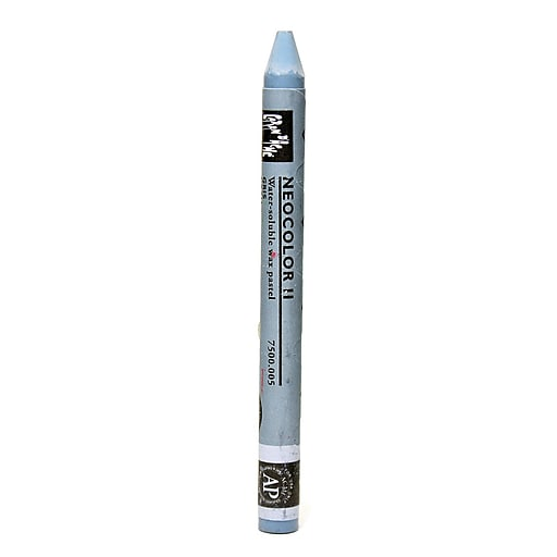 Caran d'Ache Neocolor II Aquarelle Water Soluble Wax Pastels gray [Pack of 10]