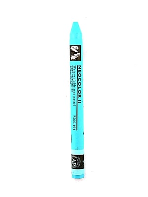 Caran d'Ache Neocolor II Aquarelle Water Soluble Wax Pastels turquoise green [Pack of 10]