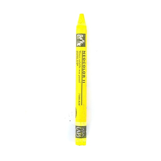 Caran d'Ache Neocolor II Aquarelle Water Soluble Wax Pastels golden yellow [Pack of 10]