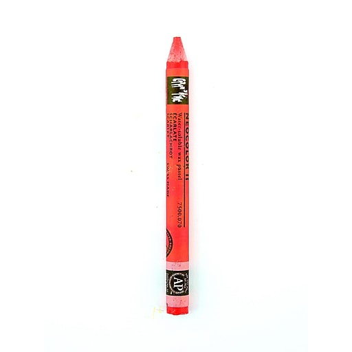 Caran d'Ache Neocolor II Aquarelle Water Soluble Wax Pastels scarlet [Pack of 10]