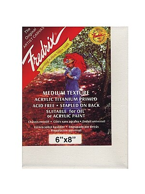 Fredrix Red Label Stretched Cotton Canvas, 6