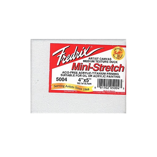 Fredrix Red Label Stretched Cotton Canvas 4 in. x 5 in. each [Pack of 4]