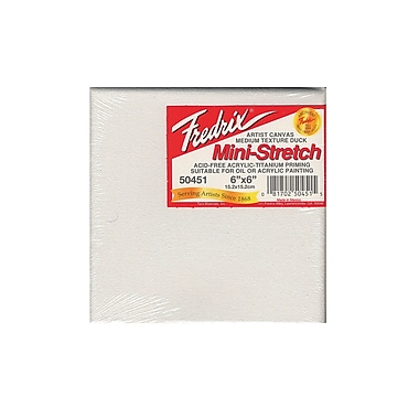 Fredrix Red Label Stretched Cotton Canvas 6 in. x 6 in. each [Pack of 4]