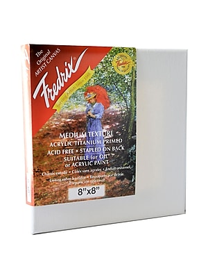 Fredrix Red Label Stretched Cotton Canvas 8 in. x 8 in. each