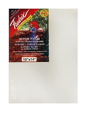 Fredrix Red Label Stretched Cotton Canvas 10 in. x 14 in. each [Pack of 2]
