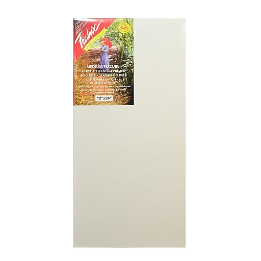 """Fredrix Red Label Stretched Cotton Canvas, 12"""" x 24"""" (74889)"""