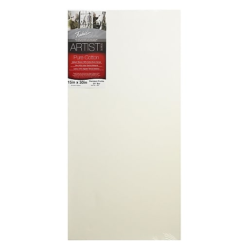 Fredrix Red Label Stretched Cotton Canvas 15 in. x 30 in. each