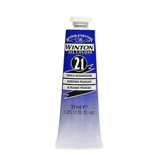 Winsor  and  Newton Winton Oil Colours 37 ml French ultramarine 21 [Pack of 3]