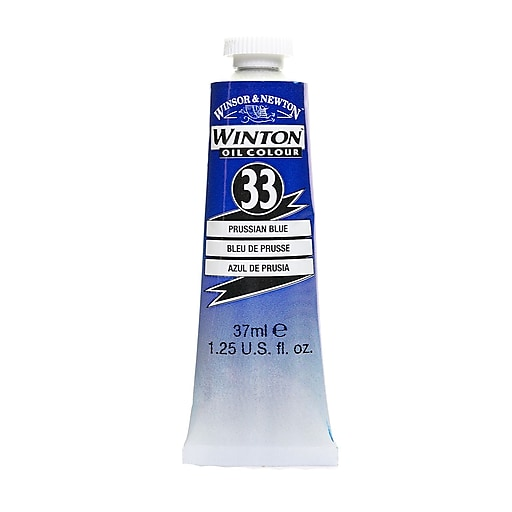 Winsor  and  Newton Winton Oil Colours 37 ml Prussian blue 33 [Pack of 3]