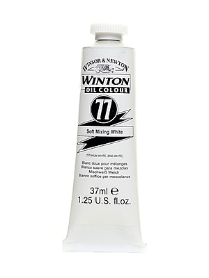 Winsor and Newton Winton Oil Colours 37 ml soft mixing white 77 [Pack of 3]