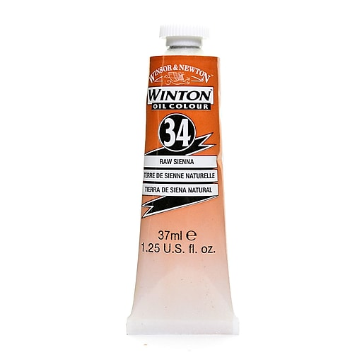 Winsor  and  Newton Winton Oil Colours 37 ml raw sienna 34 [Pack of 3]