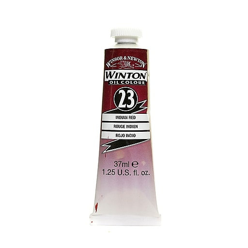Winsor  and  Newton Winton Oil Colours 37 ml Indian red 23 [Pack of 3]