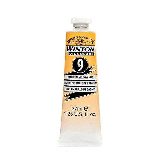 Winsor  and  Newton Winton Oil Colours 37 ml cadmium yellow hue 9 [Pack of 3]