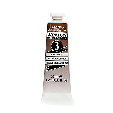 Winsor and Newton Winton Oil Colours 37 ml burnt umber 3 [Pack of 3]