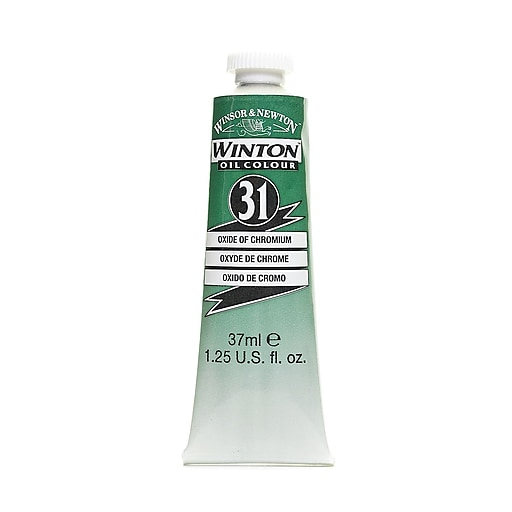 Winsor  and  Newton Winton Oil Colours 37 ml oxide of chromium 31 [Pack of 3]