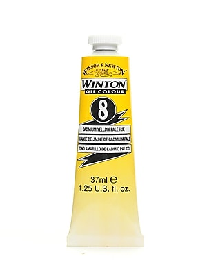 Winsor and Newton Winton Oil Colours 37 ml cadmium yellow pale hue 8 [Pack of 3]