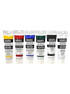 Liquitex Classic 6 Heavy Body Acrylic Color, Set of Six (72534)