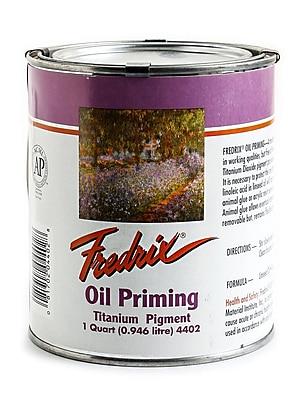 Fredrix Oil Priming - Titanium Dioxide quart can