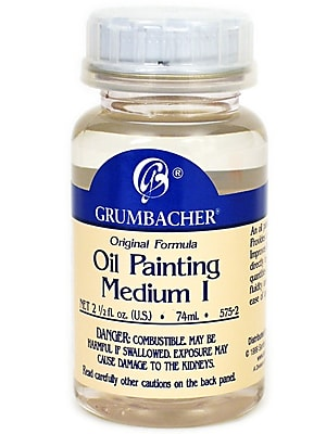 Grumbacher Oil Painting Medium I, 2.5 oz. jar (78121)