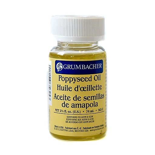 Grumbacher Poppyseed Oil, 2.5 Jar (87640)