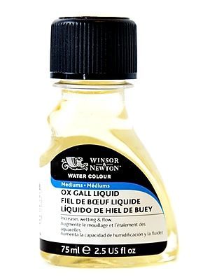 Winsor and Newton Water Colour Ox Gall Liquid Medium 75 ml