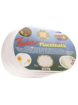 Fredrix Canvas Placemats oval pack of 4