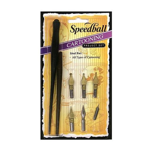 Speedball Cartooning Pen Set set of 6 [Pack of 2]
