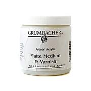Grumbacher Artists' Acrylic Matte Medium  And  Varnish 8 Oz. Jar