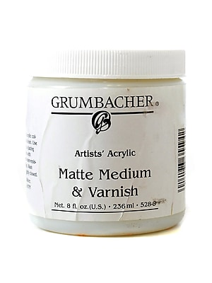 Grumbacher Artists' Acrylic Matte Medium and Varnish 8 oz. jar