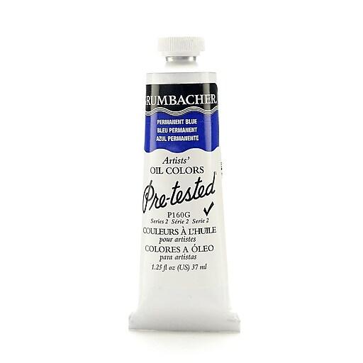 Grumbacher Pre-tested Oil Paint, Permanent Blue (Ultramarine Blue) P160, 1.25 oz. tube