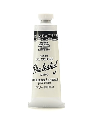 Grumbacher Pre-tested Oil Paint, Zinc White P248, 1.25 oz. tube [Pack of 2]