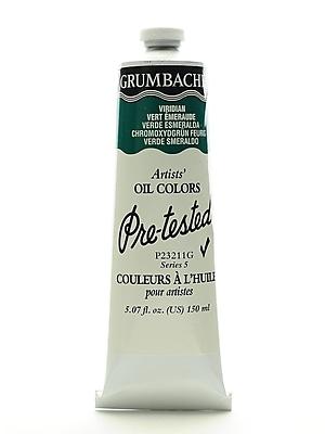 Grumbacher Pre-tested Oil Paint, Viridian P232 5.07 oz. tube