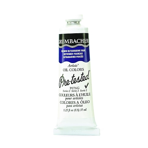 Grumbacher Pre-tested Oil Paint, French Ultramarine Blue P076, 1.25 oz. tube