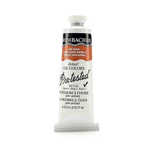 Grumbacher Pre-tested Oil Paint, Raw Sienna P171, 1.25 oz. tube [Pack of 2]