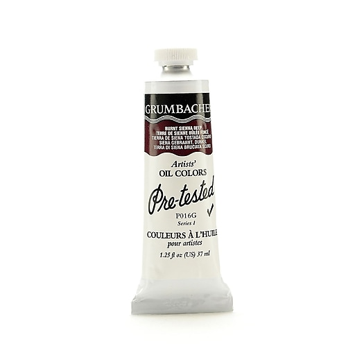 Grumbacher Pre-tested Oil Paint, Burnt Sienna Deep P016, 1.25 oz. tube [Pack of 2]