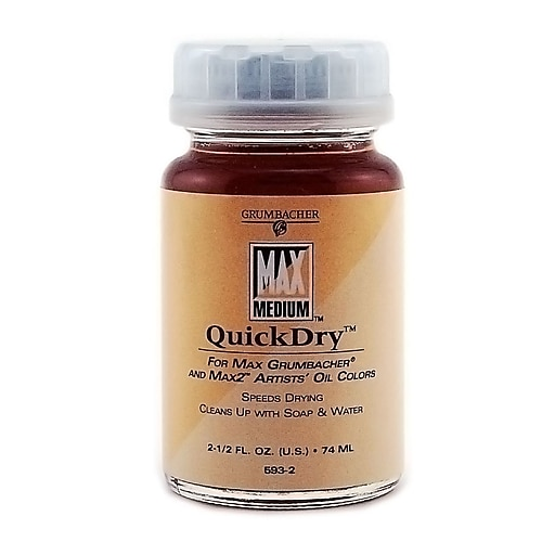 Grumbacher Max Quick Dry Medium, 2.5 oz. Jar [Pack of 2]