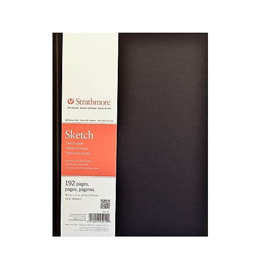 Strathmore 400 Series Hard Bound Sketch Book 11 1/2 in. x 8 1/2 in. [Pack of 2]