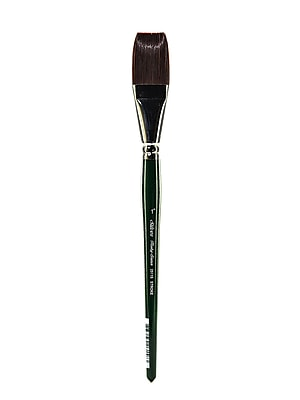 Silver Brush Ruby Satin Series Synthetic Brushes Short Handle 1 in. stroke 2511S