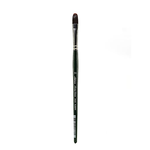 Silver Brush Ruby Satin Series Synthetic Brushes Short Handle 10 filbert 2503S