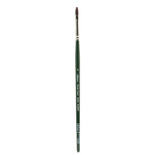 Silver Brush Ruby Satin Series Synthetic Brushes Short Handle 4 filbert 2503S